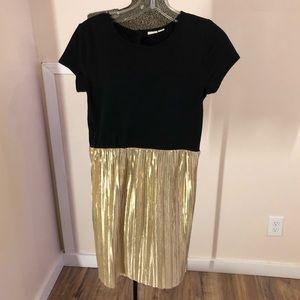 Gap Kids Black & Gold T-shirt Dress